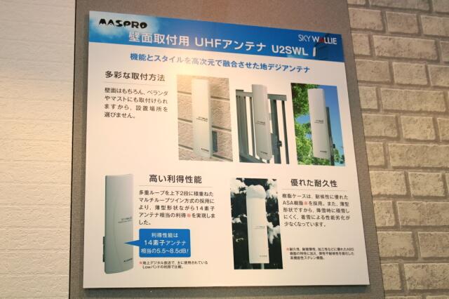 壁面取付用 UHFアンテナ U2SWL 案内ボード