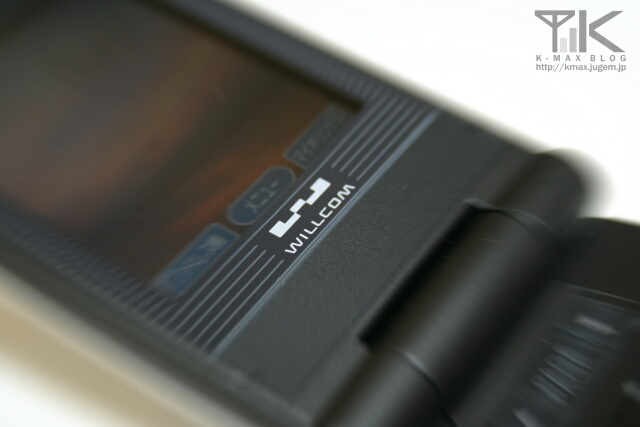 WX310K WILLCOMロゴ