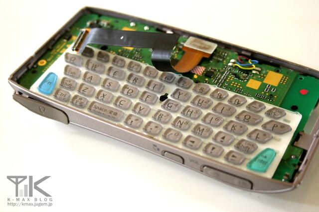 W-ZERO3(WS003SH) キーボード部分