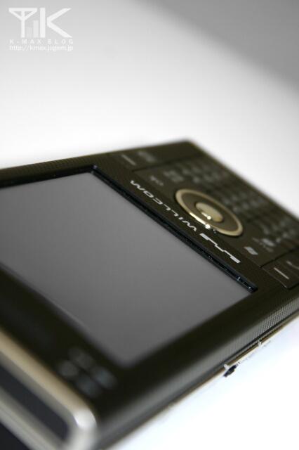 W-ZERO3[es](WS007SH)ブラック 画像(WILLCOMロゴ)