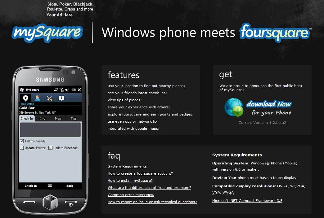 Mysquareトップページ