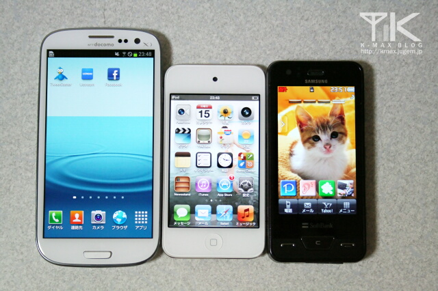 GALAXY S III / iPod touch / SoftBank 941SC