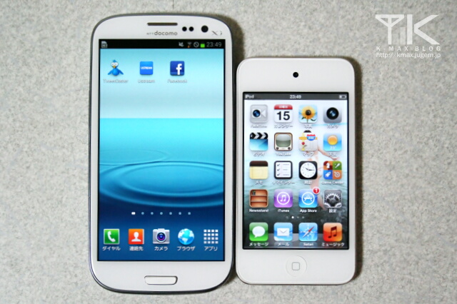 GALAXY S III / iPod touch