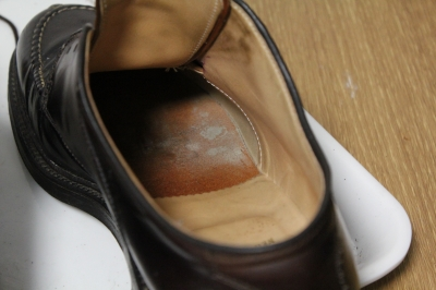 靴の中にも カビが\u2026