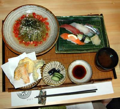 京都宇治茶蕎麦のトマトジュレ御膳