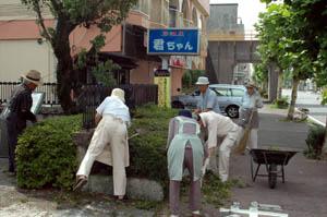 市民清掃活動風景