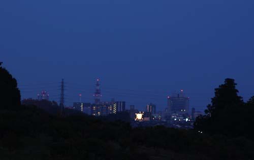 鶴田沼夜景
