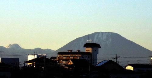 男体山と白根山