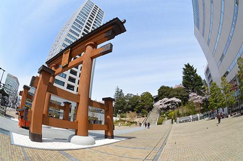 桜の二荒山神社