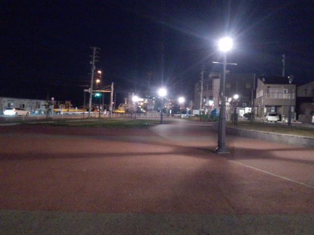 港町公園夜