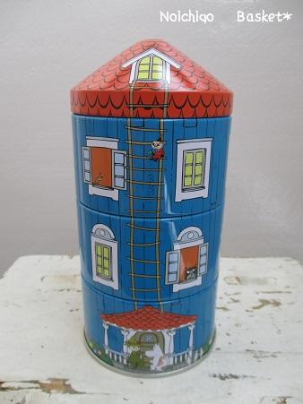 ムーミンハウス缶♪