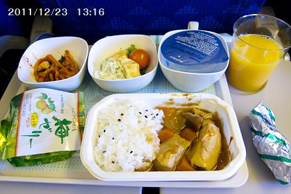 大韓航空機内食(行き)