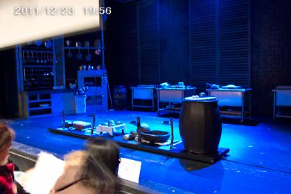 NANTA開演直前のステージ