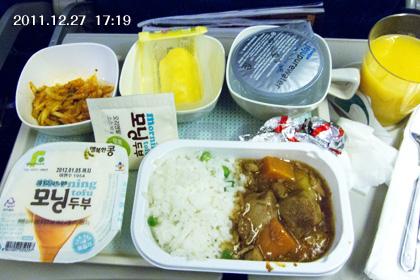 韓国/大韓航空機内食