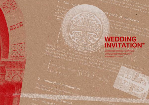 結婚式の招待状・席次表・席札等のデザイン