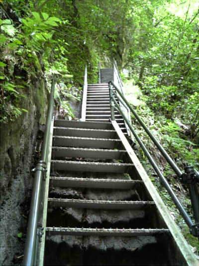 2009/07/13 由布川渓谷階段
