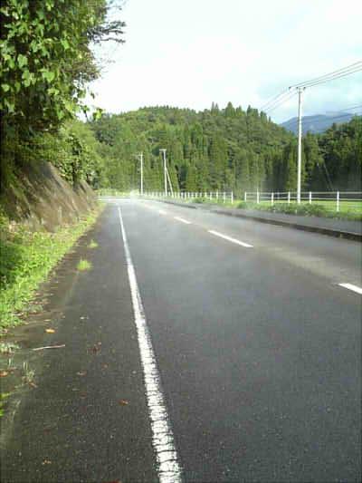 2009/08/20 道の湯気