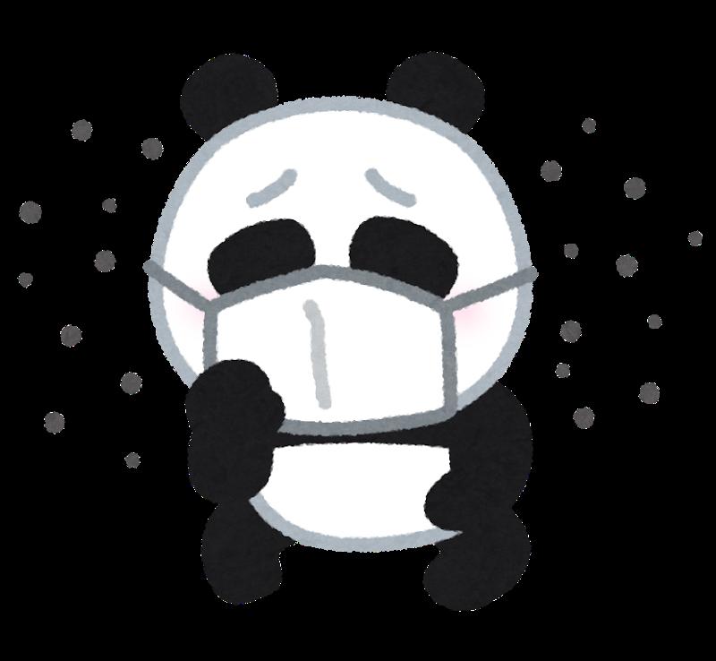 咳き込むパンダ