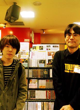 タワレコ渋谷店にて