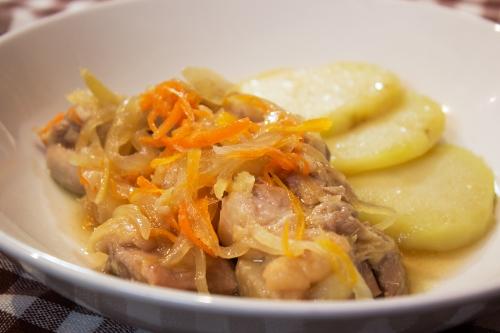鶏もも肉の生姜焼き