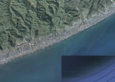 Googlemapの久能海岸