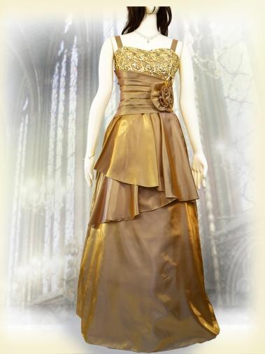 プチプライスドレス:ゴールド