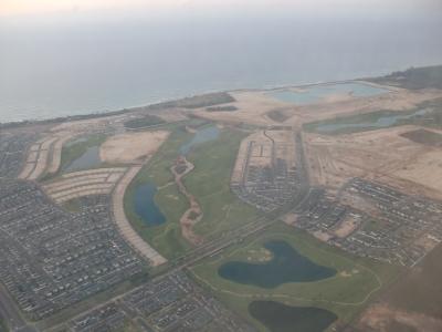 ハワイオワフ島上空写真3