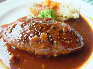 黒胡椒のハンバーグステーキ