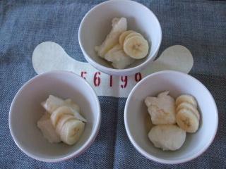 プレーンヨーグルト:100g ハチミツ:10g バナナ:適量