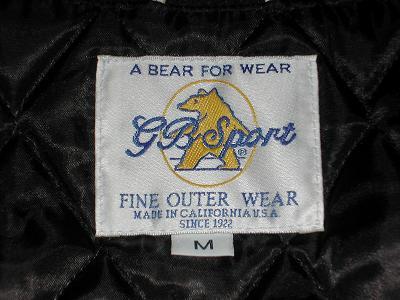 37ff9c2c516 さて、このスタジャン、「GBスポーツ」というブランド。GBとはGolden  Bearのこと。このブランド、スタジャンでは定番といってよいトコらしいけど、恥ずかしながら知り ...