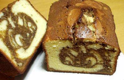 モカマーブル パウンドケーキ