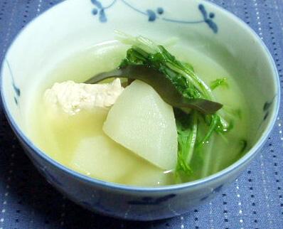 ハヤト瓜のスープ
