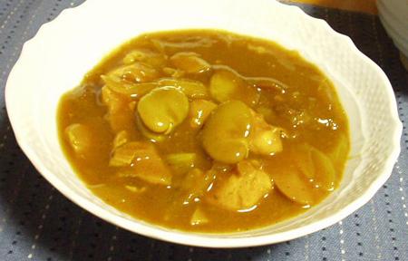 空豆のカレーシチュー
