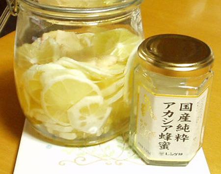 生姜レモンハチミツ