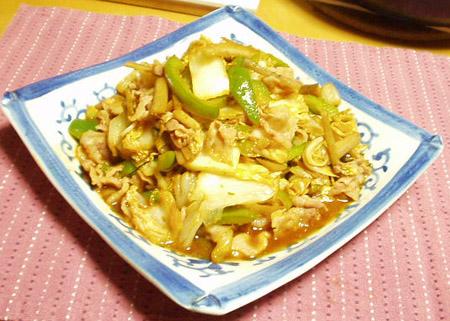 白菜漬けの豚キムチ風