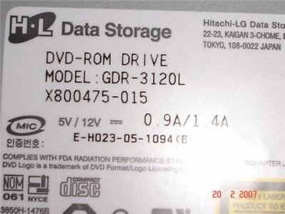 Hitachi GDR-3120L