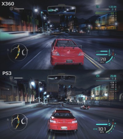 Need For Speed Carbon Comparison 720pで比較