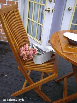 チーク椅子の背