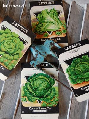 アンティーク野菜の種袋