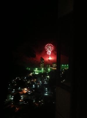 苗場スキー場の花火