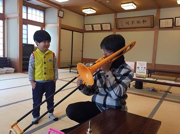 楽器遊びも