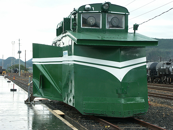 小坂鉄道のラッセル体験