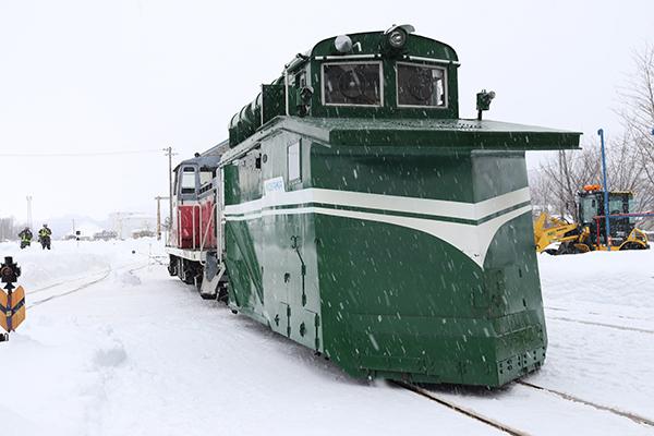 小坂鉄道ラッセル体験