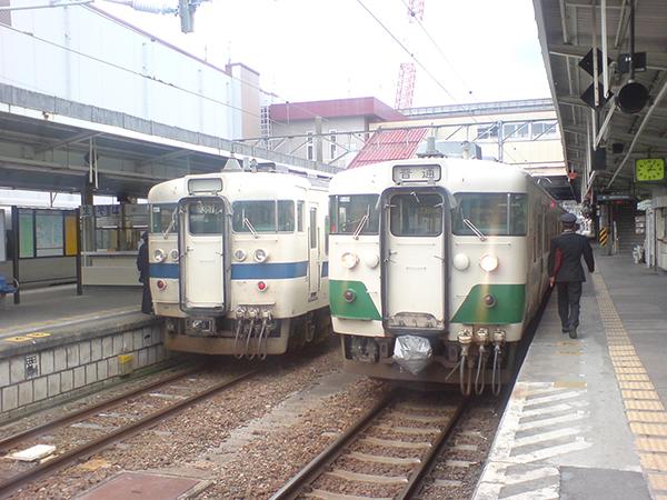 いわき駅での電車