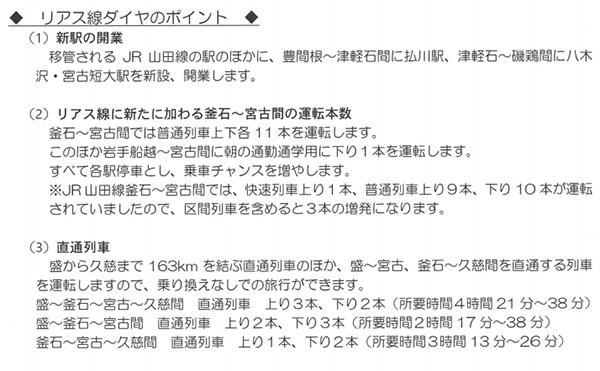 三陸鉄道ダイヤ