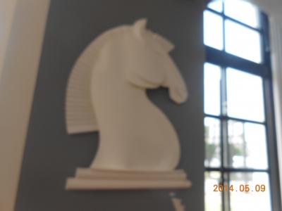 戸畑図書館の紙の馬