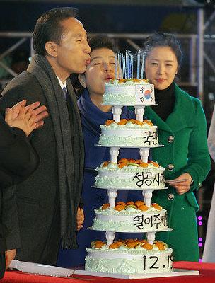 李明博、新韓国大統領