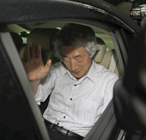 小泉元首相、議員最後の日