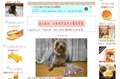 犬のおやつプレゼント