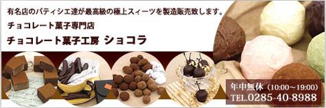 栃木県下野市(自治医大病院近く)のチョコレート菓子専門店(チョコレート、焼き菓子、ケーキ)チョコレート菓子工房ショコラ/美味しい洋食レストランショコラの食卓